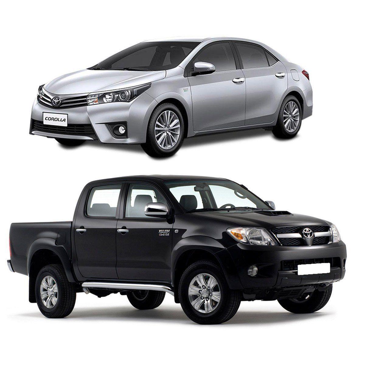 Aplique de Maçaneta Toyota Hilux Corolla 2002 a 2015 Cromado