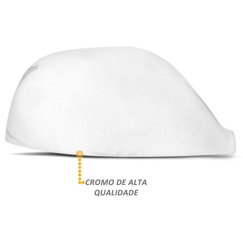 Aplique Retrovisor Amarok 2010 a 2020 Cromado Lado Direito