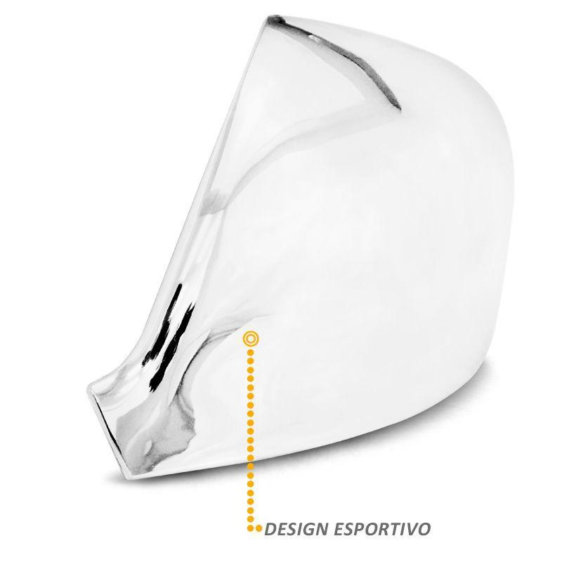 Aplique Retrovisor Amarok 2010 a 2020 Cromado Lado Esquerdo
