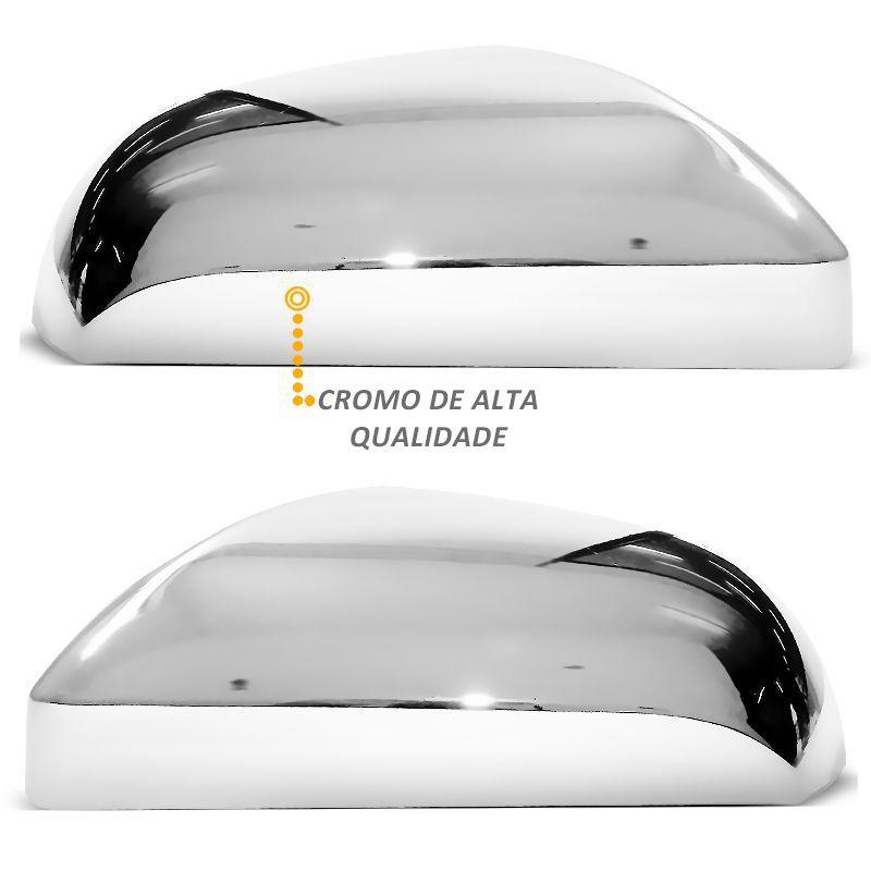 Par Aplique Retrovisor Cromado Onix Prisma 2013 em Diante