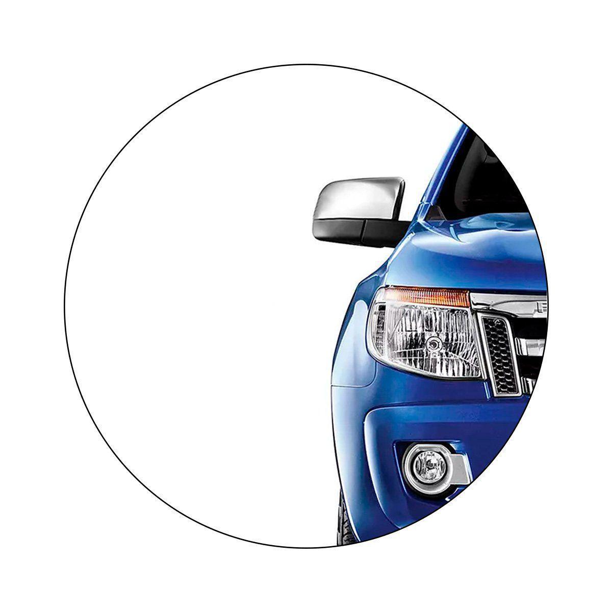 Aplique Retrovisor Ford Ranger 2013 a 2019 Cromado Lado Direito