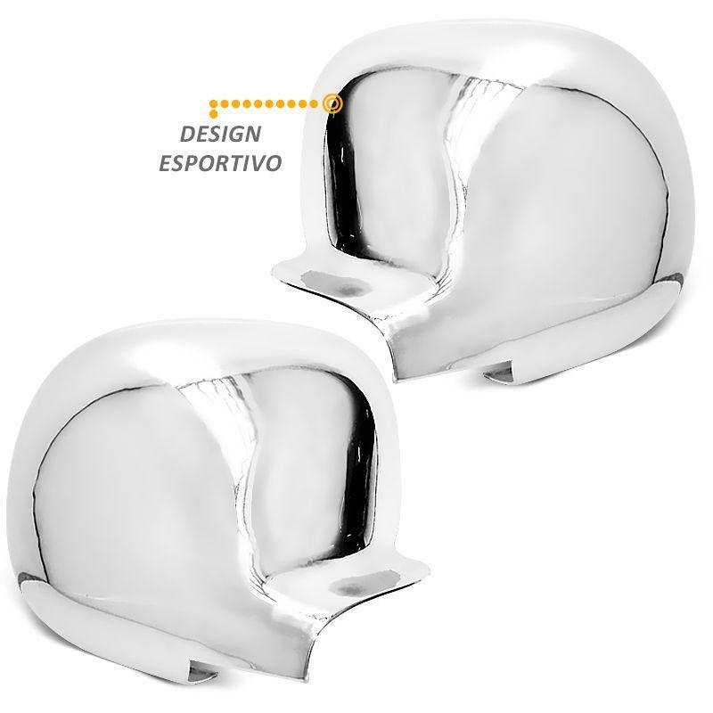 Par Aplique de Retrovisor Cromado S10 2011 Blazer Silverado