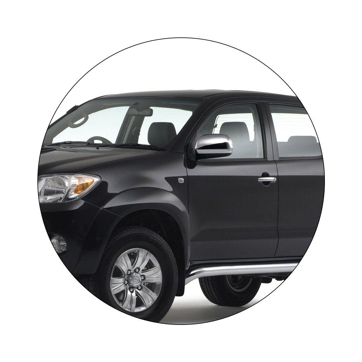 Aplique Retrovisor Toyota Hilux 2005 a 2011 Cromado LE