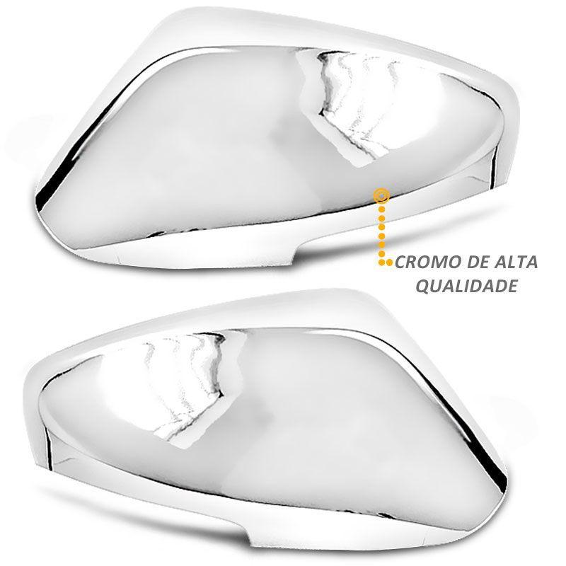 Kit Apliques de Retrovisor Cromado Pisca Elantra 2012 a 2016