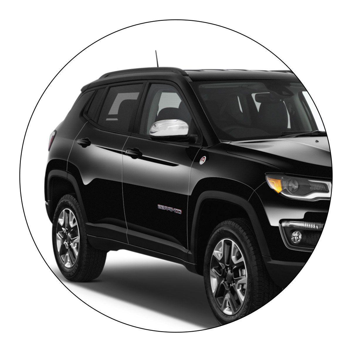 Capa Retrovisor Jeep Compass Fiat Toro 2016 a 2019 Cromado Lado Direito
