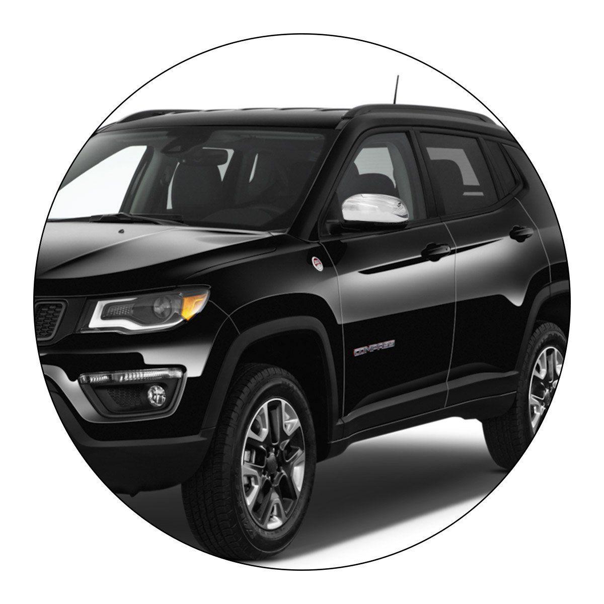 Aplique Retrovisor Jeep Compass Fiat Toro 2016 a 2019 Cromado Lado Esquerdo