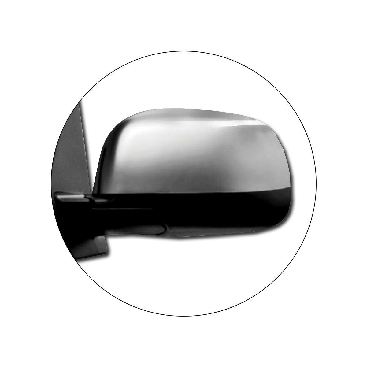 Aplique Retrovisor Nissan March 2011 a 2019 Cromado Lado Esquerdo