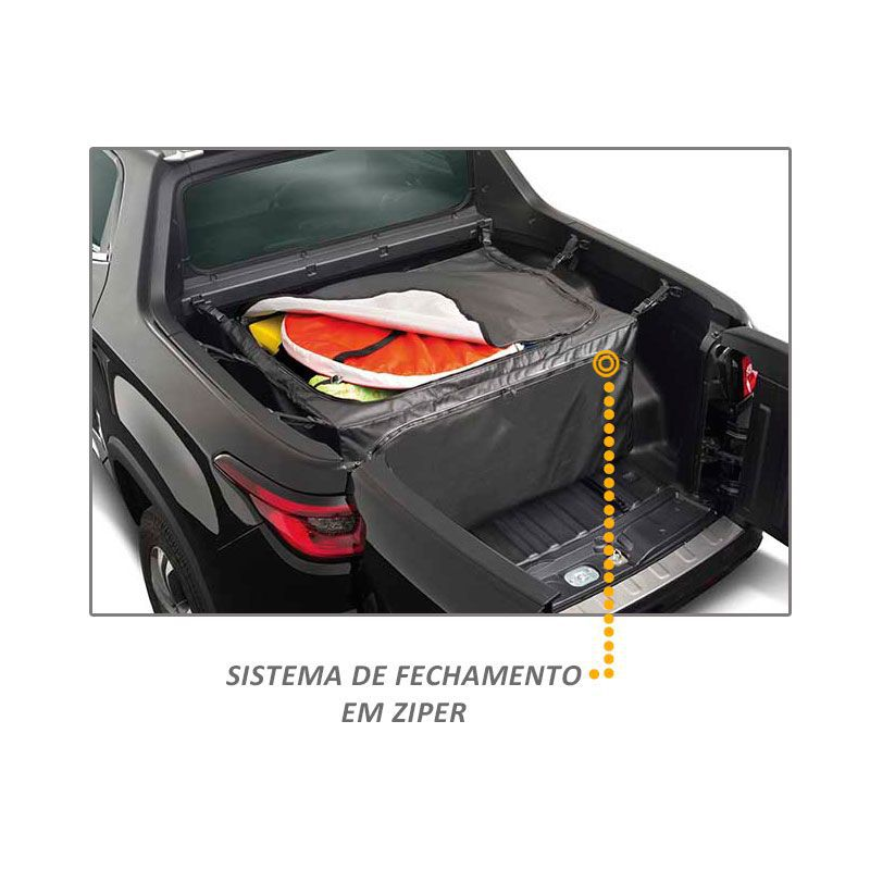 Bolsa de Caçamba Fiat Toro 2016 a 2019 Horizontal 407 Litros