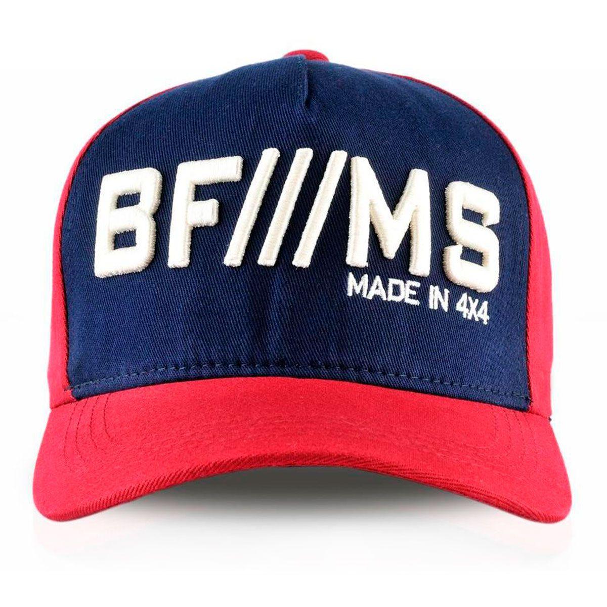 Boné BFMS Original Grená Vermelho com Azul Marinho Ajustável