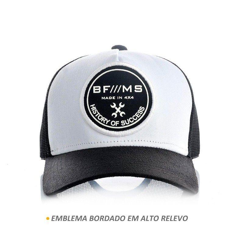 Boné BFMS Original History Of Success Preto com Branco