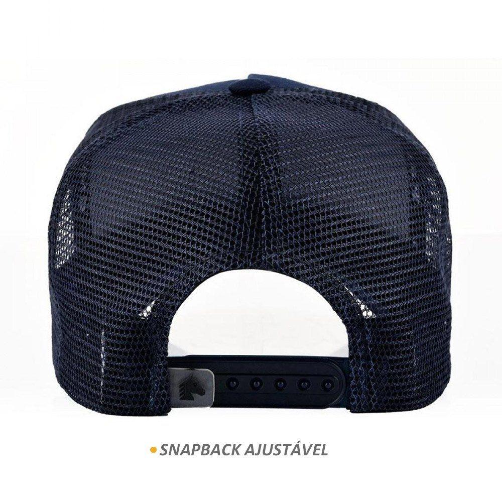 Boné BFMS Horse Azul Marinho Snapback Ajustavel Unissex
