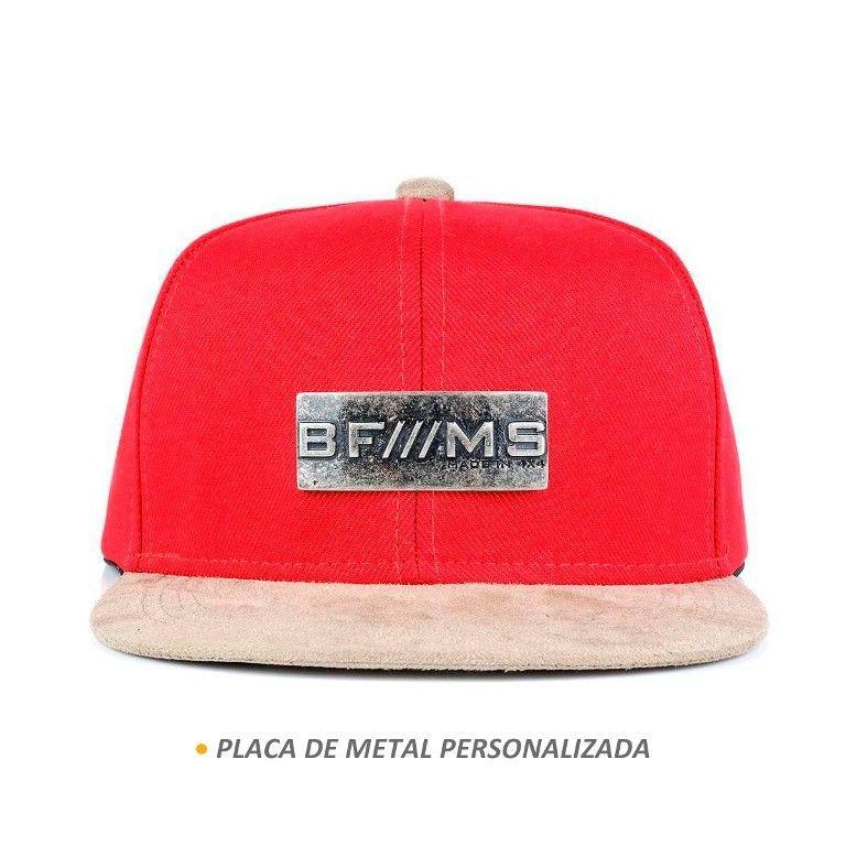 Boné BFMS Original Snapback Vermelho Unissex Ajustável