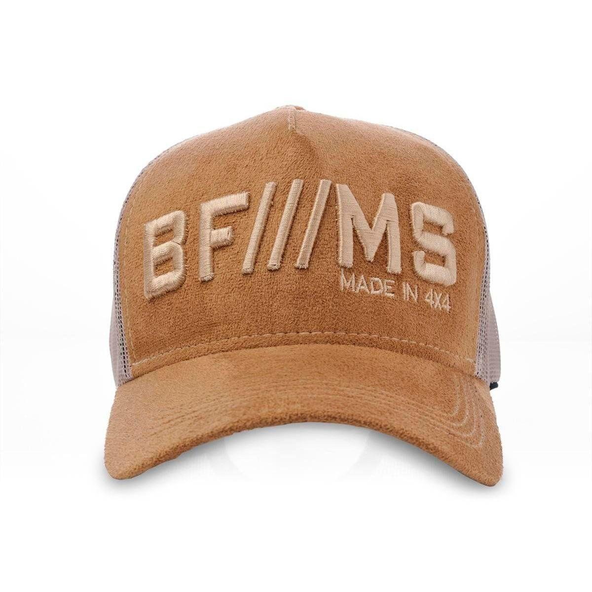 Boné BFMS Tradicional Ocre Camurça Bordado Snapback Ajustável