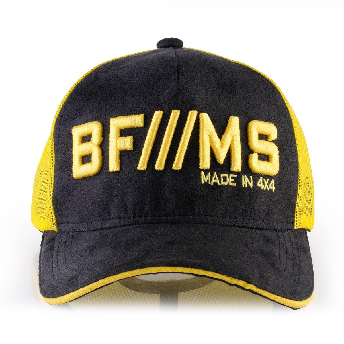 Boné BFMS Original Tradicional Preto Camurça com Amarelo Tela Ajustável