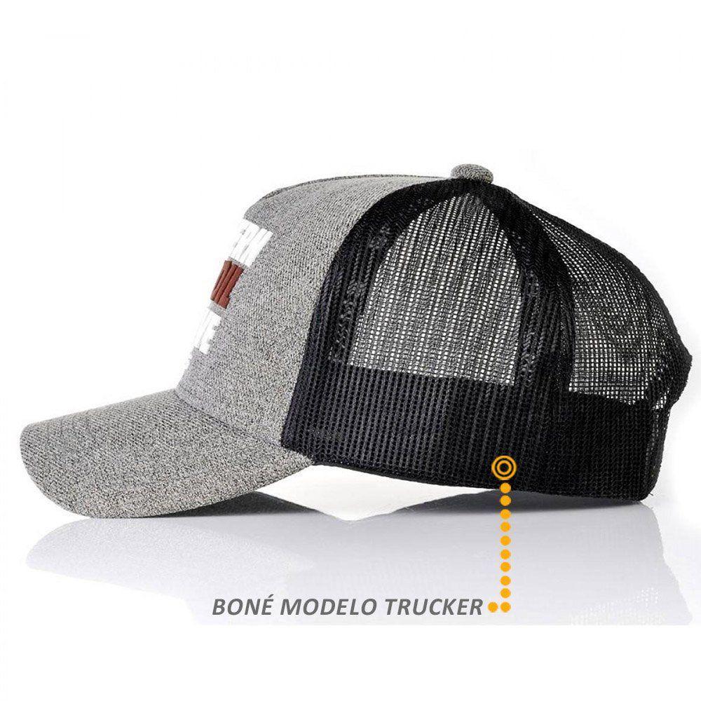 Boné BFMS Western Cinza Trucker Snapback Unissex