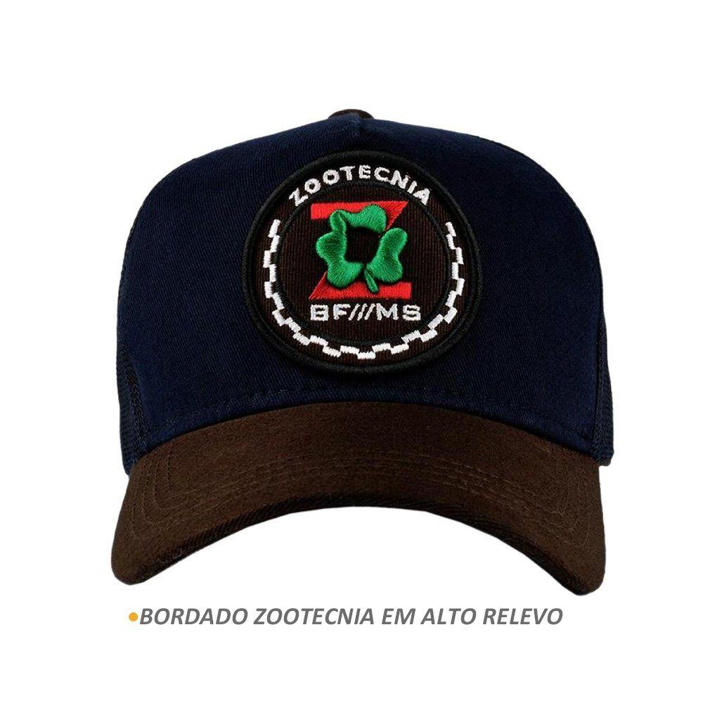 Boné BFMS Zootecnia Azul Unissex Snapback Ajustavel