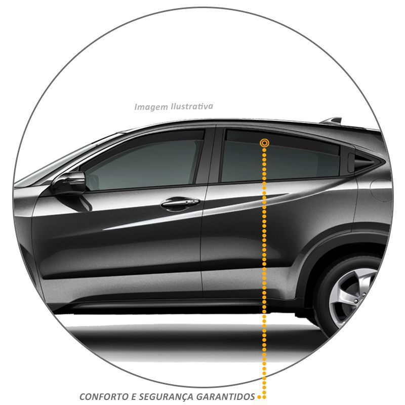 Calha de Chuva Honda HRV 2016 a 2018 Defletor Fumê Tgpoli