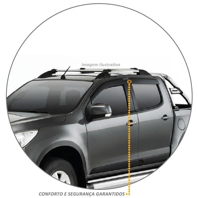 Calha de Chuva S10 CD 2012 a 2020 Defletor Fumê Tgpoli