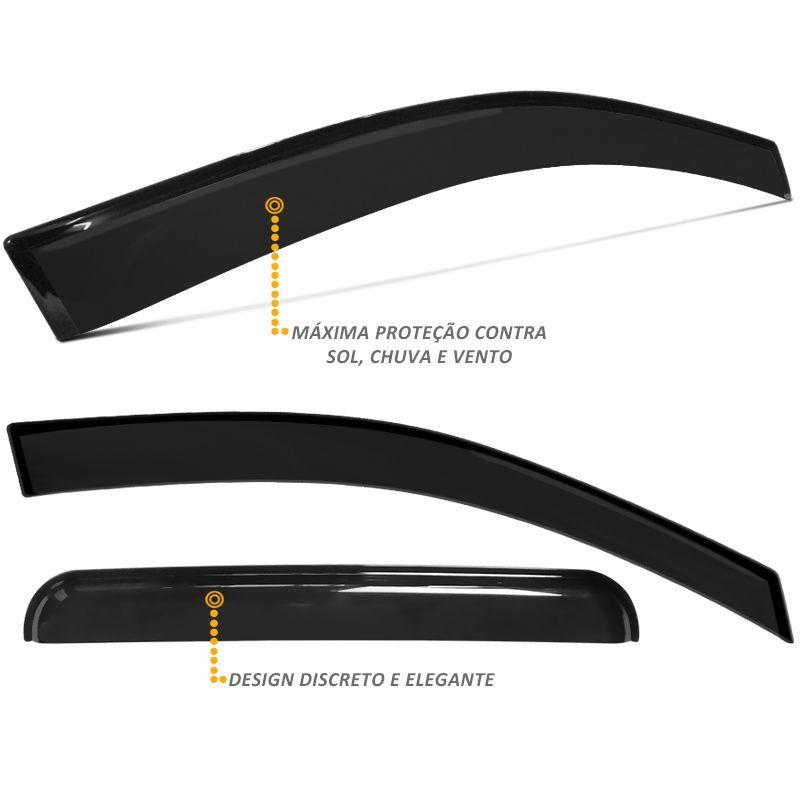 Calha de Chuva S10 CD 2012 a 2018 Defletor Fumê Tgpoli