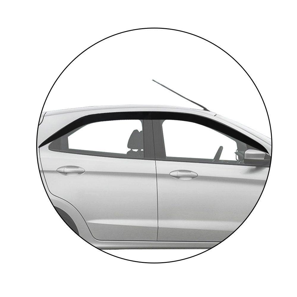 Calha Defletor De Chuva Ka Hatch Sedan 2014 2015 Acrilico Inteiriça