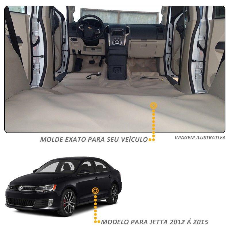 Capa Proteção Assoalho Jetta 2012/2015 Vinil Bege