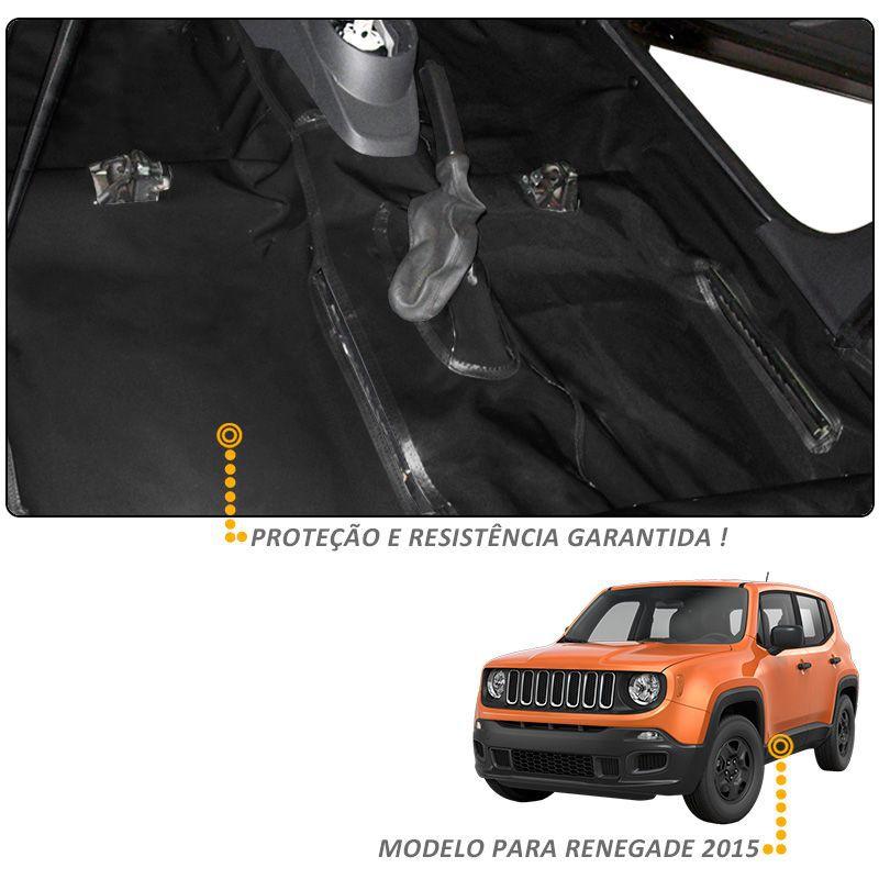 Capa Assoalho e Porta Malas Jeep Renegade 2015 a 2019 em Vinil Preto