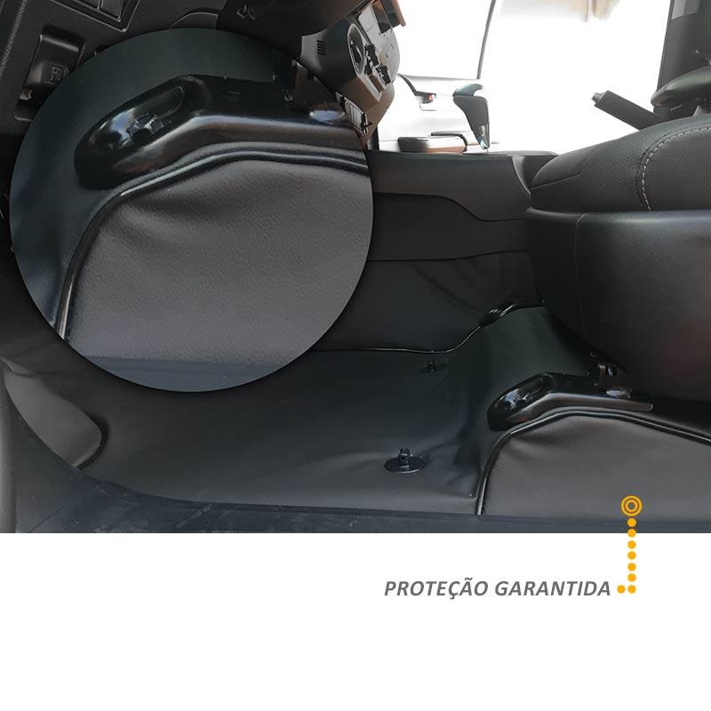 Capa de Assoalho Honda CRV 2012 a 2018 Vinil Preto