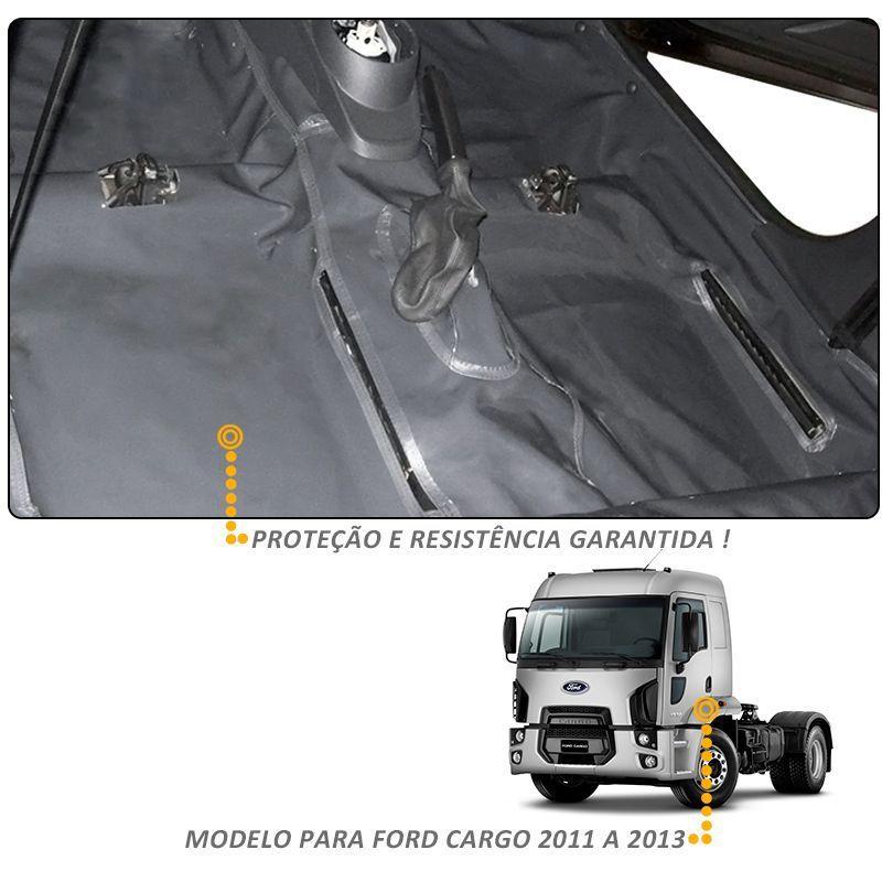 Capa de Assoalho Ford Cargo 2011 a 2013 Vinil Grafite