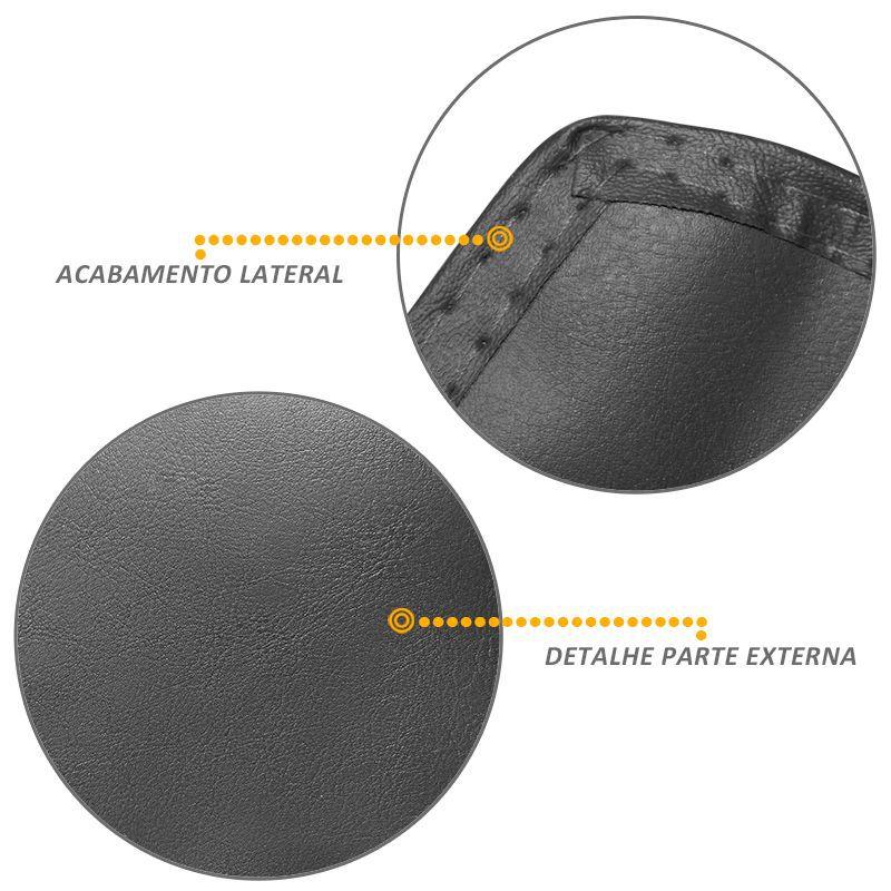 Capa Assoalho Hilux SR 2005 2014 Com Console Vinil Grafite
