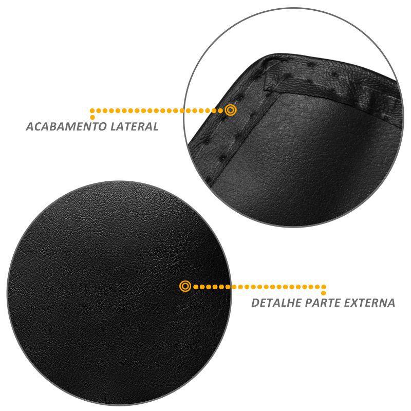 Capa Proteção Assoalho Fit 2010 a 2015 Vinil Preto