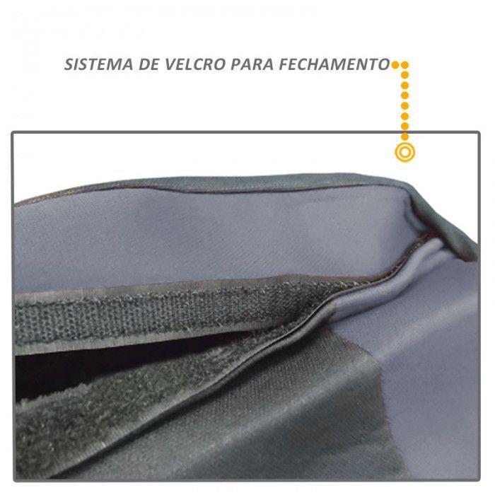 Capa de Banco Automotivo Modelo Universal Preto com Cinza