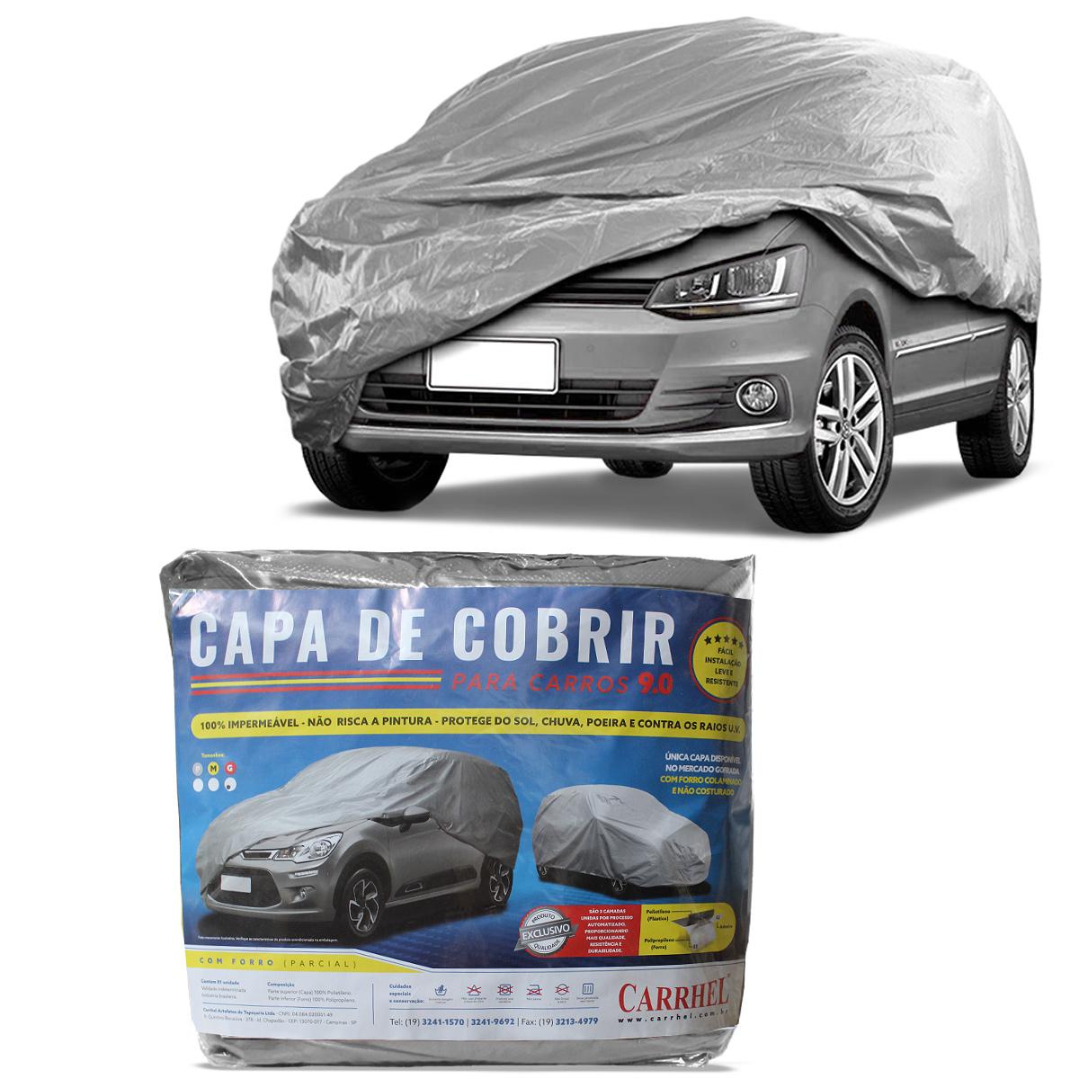Capa de Cobrir Carro Grande Forrada Parcial Gofrada Impermeável