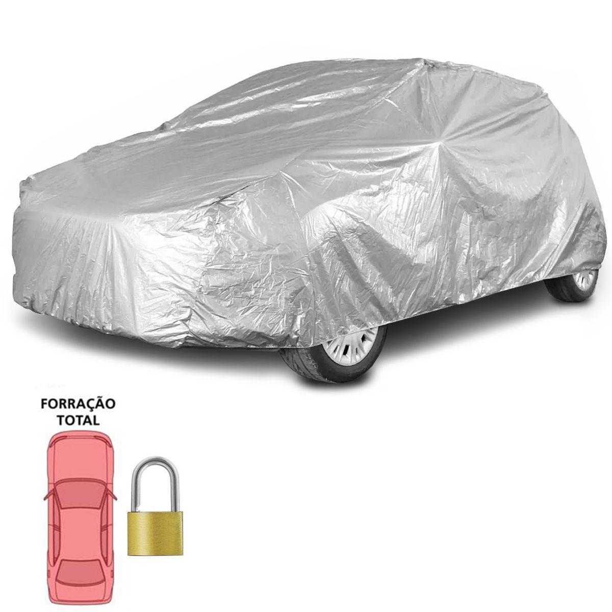 Capa de Cobrir Carro Grande Forro Impermeável Com Cadeado