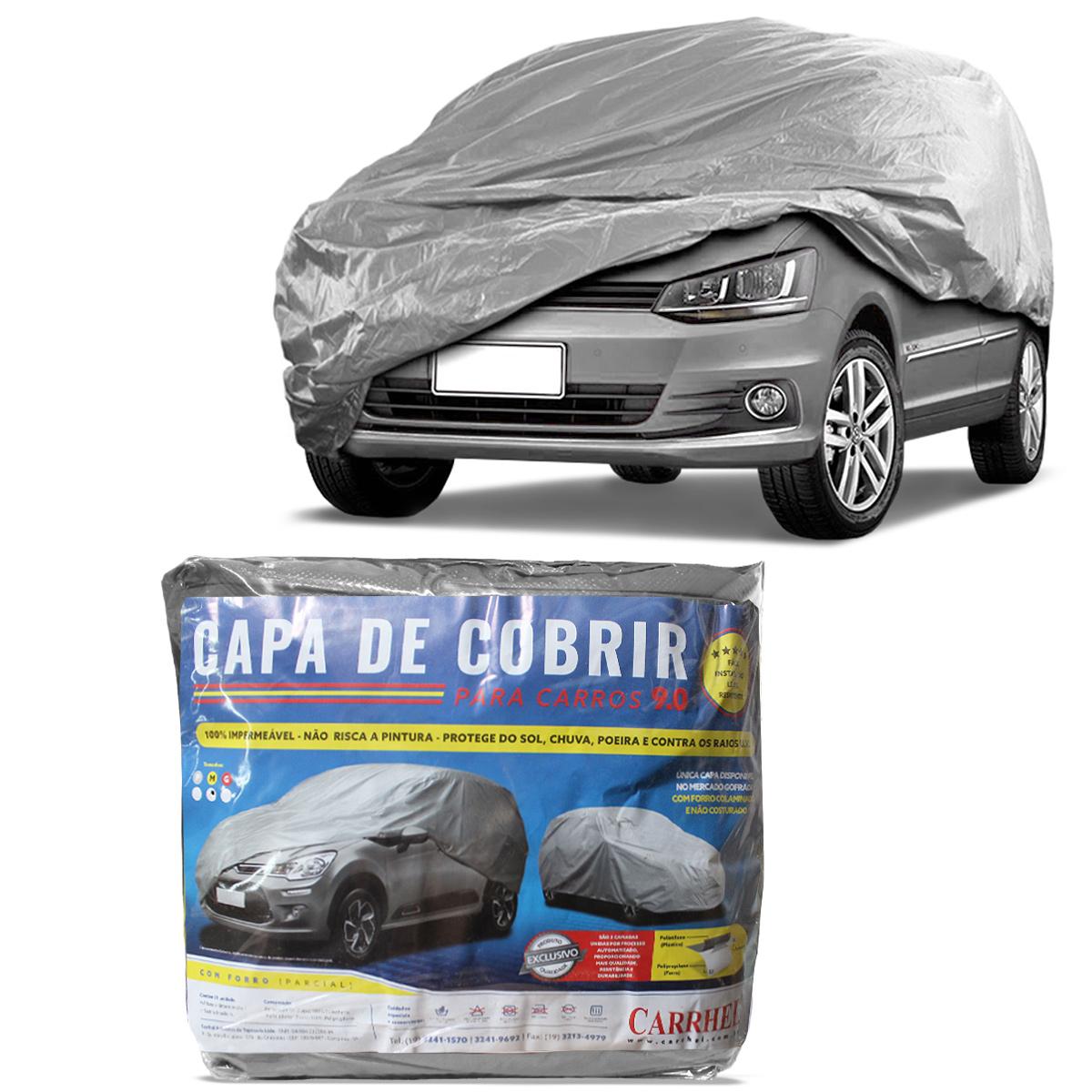 Capa de Cobrir Carro Media Forro Parcial Gofrada Impermeavel