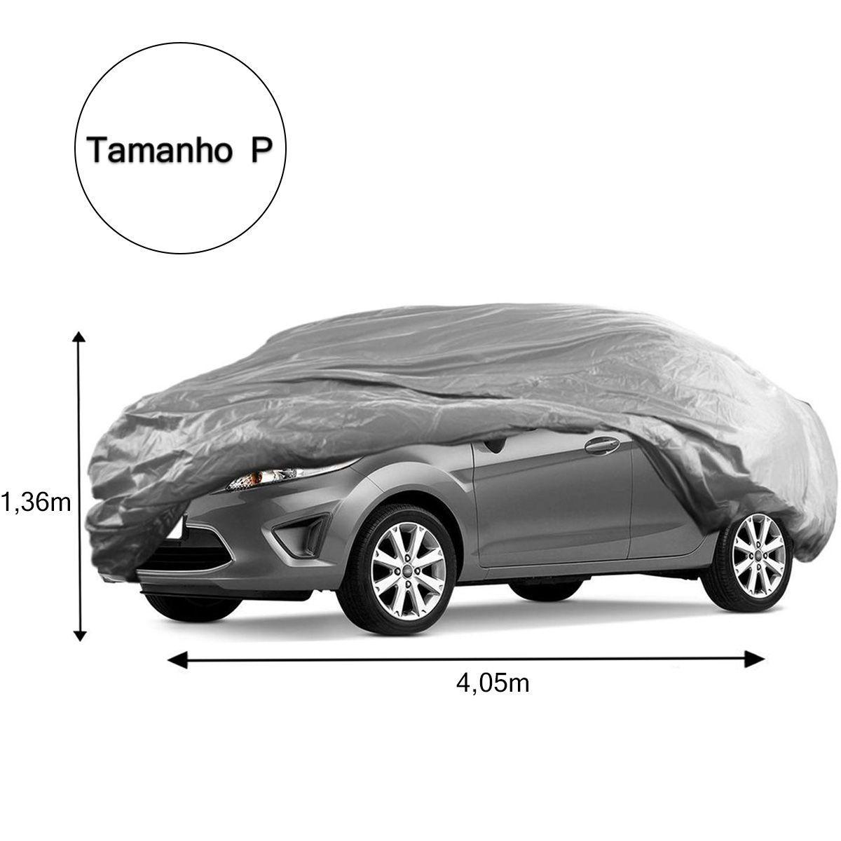Capa De Cobrir Carro Pequena Forro Impermeavel Com Cadeado