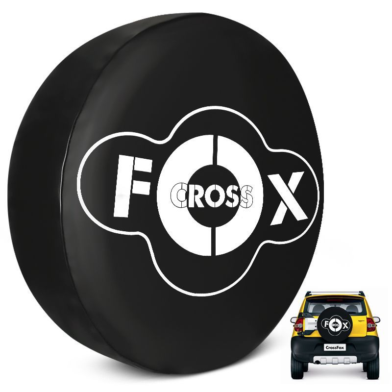 Capa de Estepe Crossfox 2005 a 2017 PVC Personalizada Logo