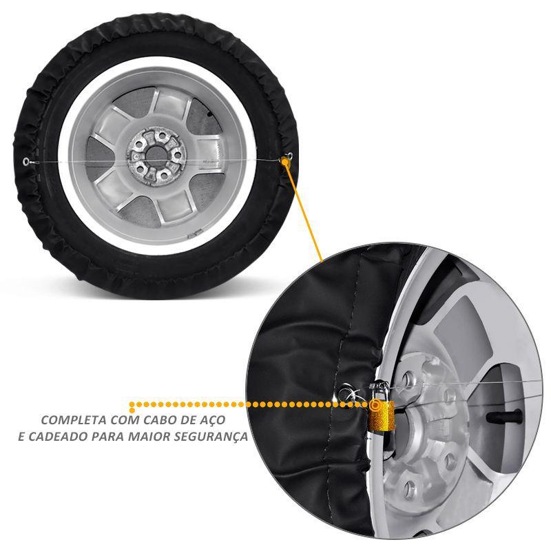 Capa de Estepe Crossfox 2005 a 2018 PVC Com Cadeado GPS