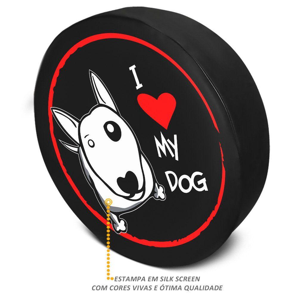 Capa de Estepe Crossfox 2005 a 2019 Love Dog Com Cadeado PVC