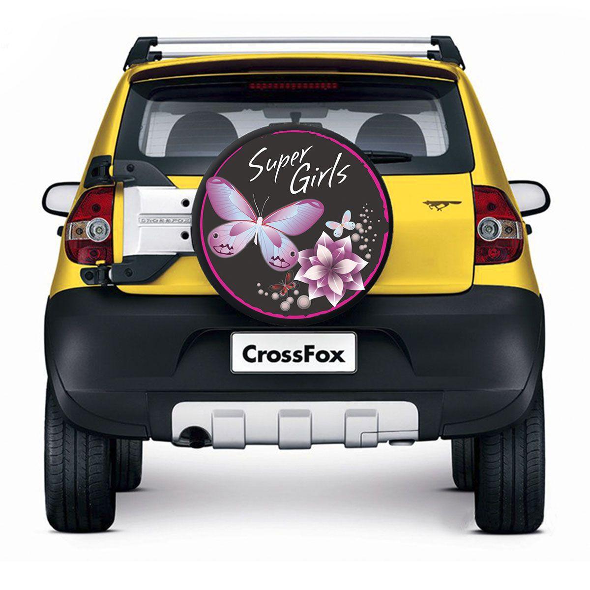 Capa de Estepe Crossfox 2005 a 2019 Super Girls Com Cadeado