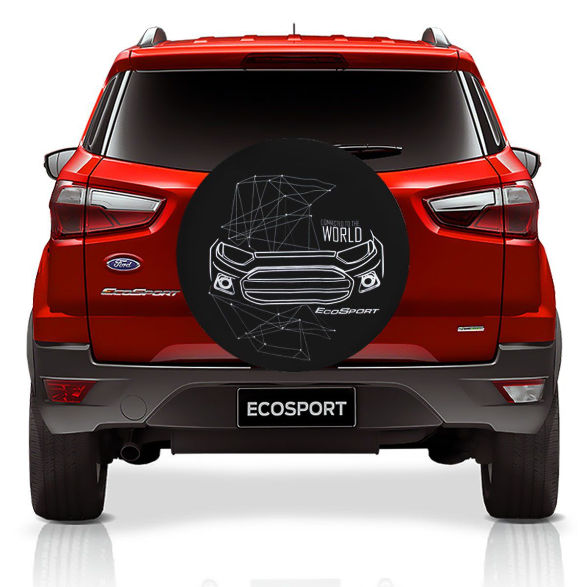 Capa De Estepe Ecosport 2003 a 2019 Estampa Connected to The World