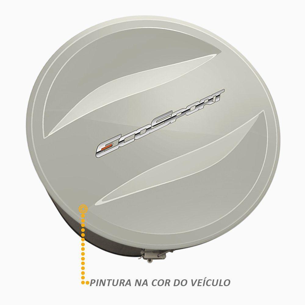 Capa de Estepe Ecosport 2003 a 2017 Com Cadeado Prata Riviera