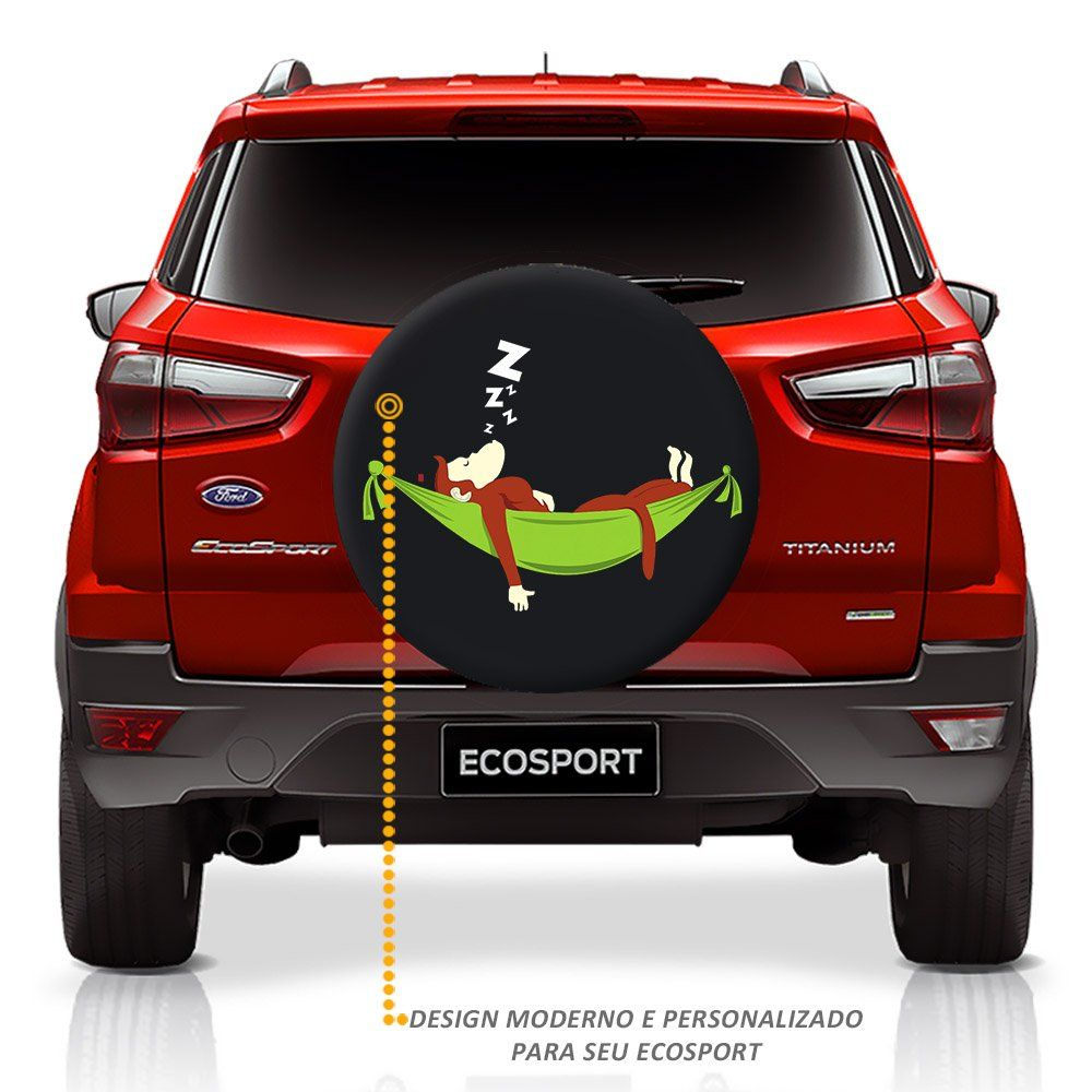 Capa de Estepe Ecosport 2003 a 2018 Macaco na Rede Com Cadeado