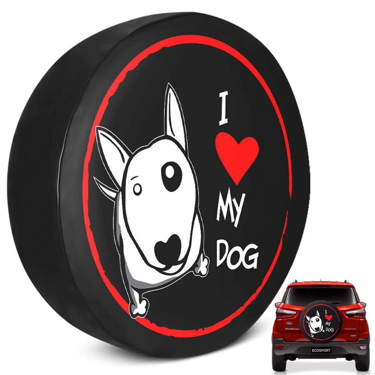 Capa de Estepe Ecosport 2003 a 2019 Love My Dog Com Cadeado