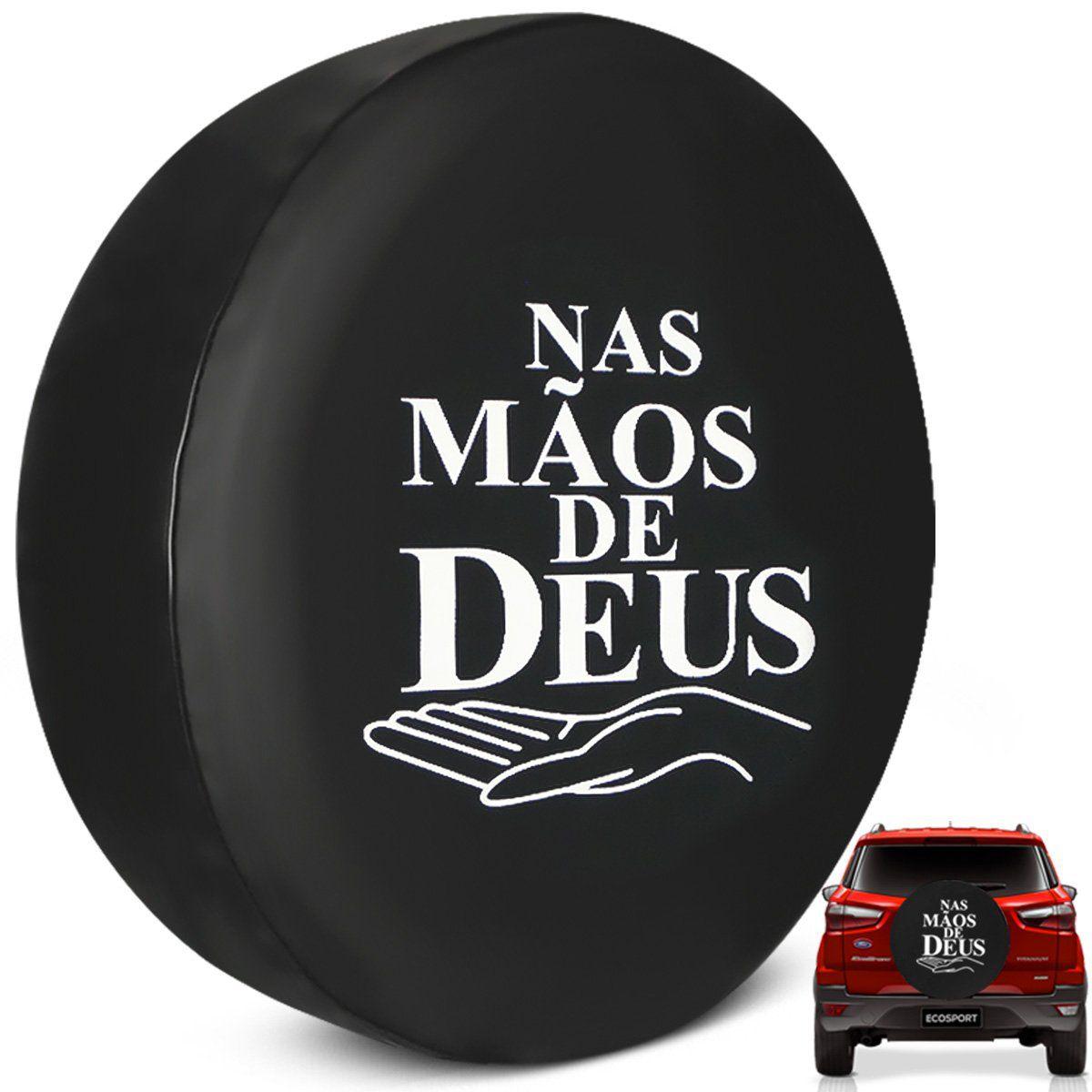 Capa De Estepe Ecosport 2003 a 2019 Nas Mãos de Deus PVC