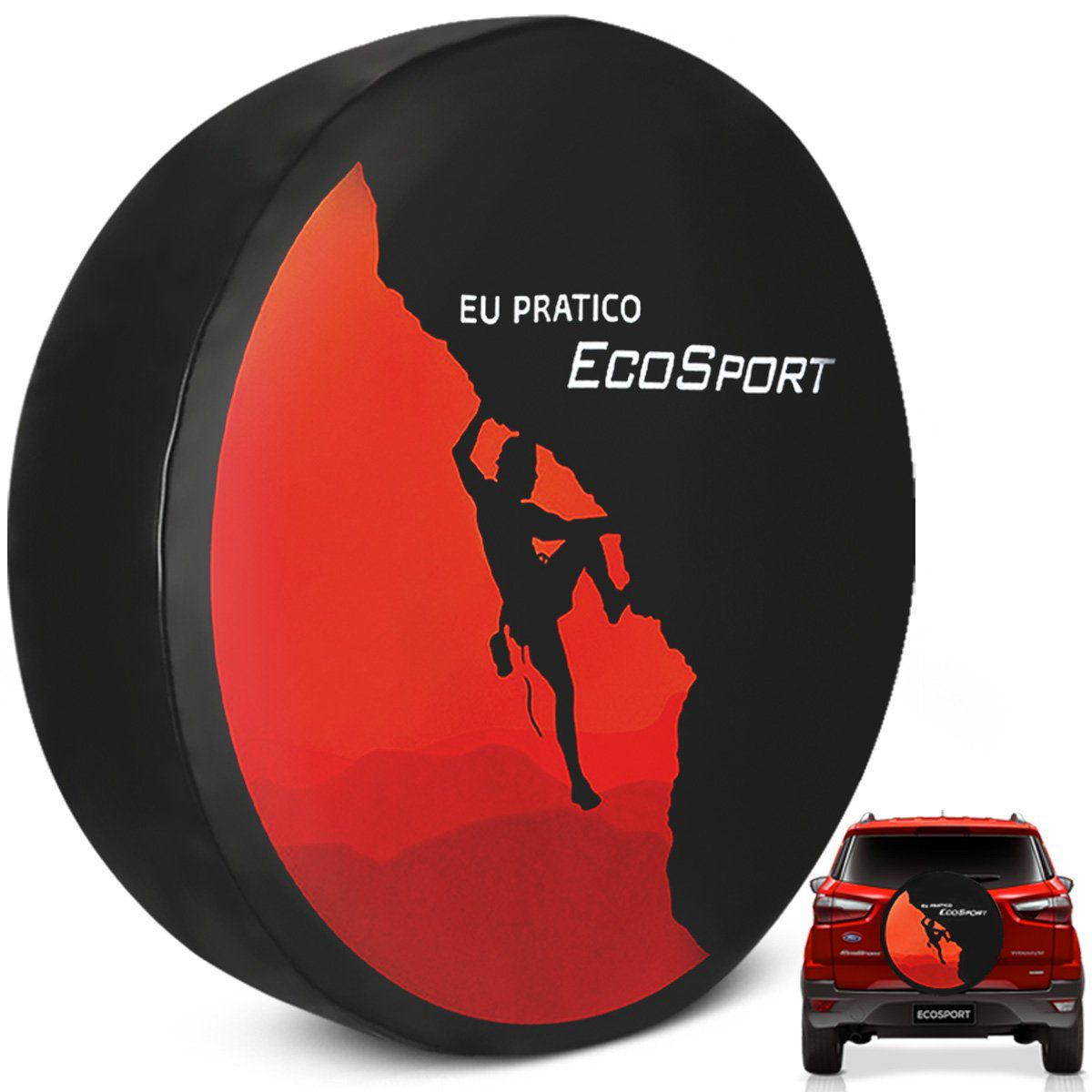 Capa de Estepe Eu Pratico Ecosport 2003 a 2019 PVC com Cadeado
