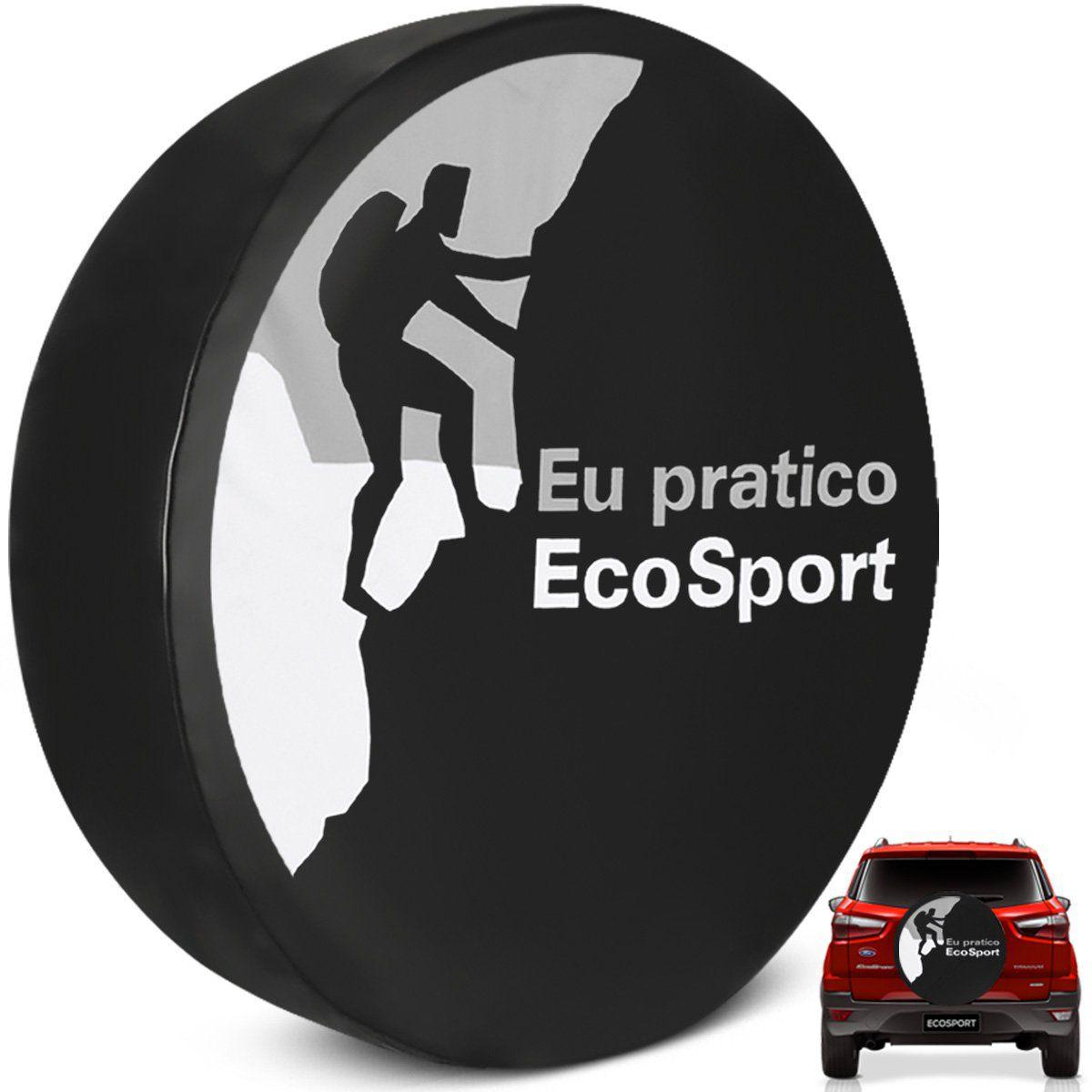 Capa de Estepe Eu Pratico Ecosport Prata 2003 a 2019 Cadeado
