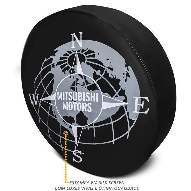 Capa De Estepe Pajero Full Mitsubishi Motors PVC Com Cadeado