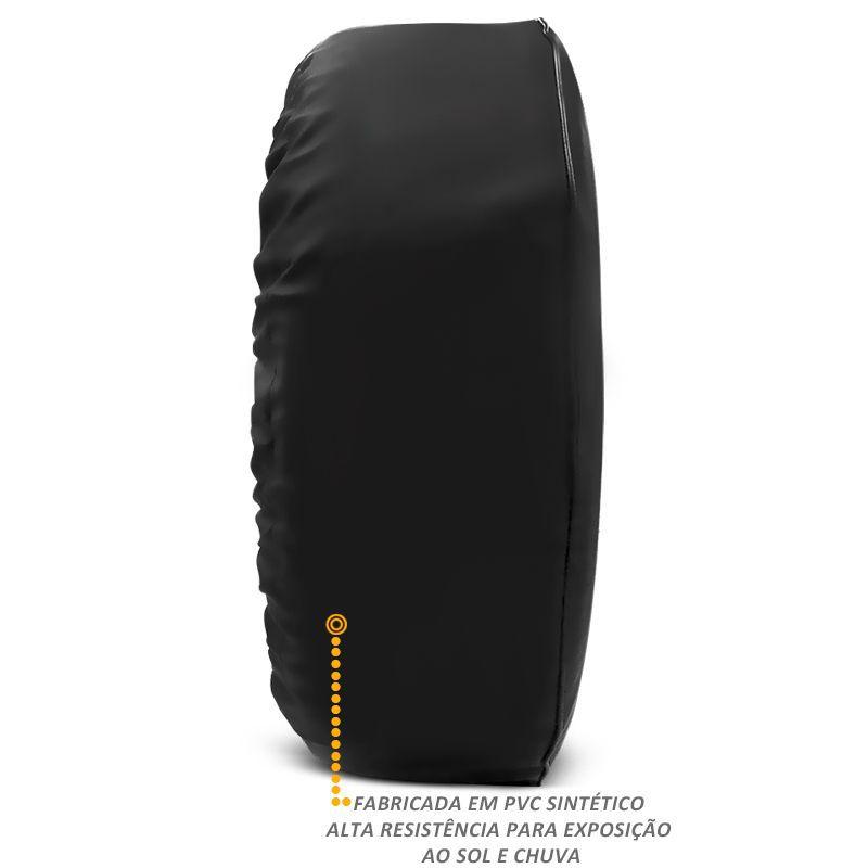 Capa de Estepe Pajero TR4 2002 a 2015 Sem Cadeado PVC