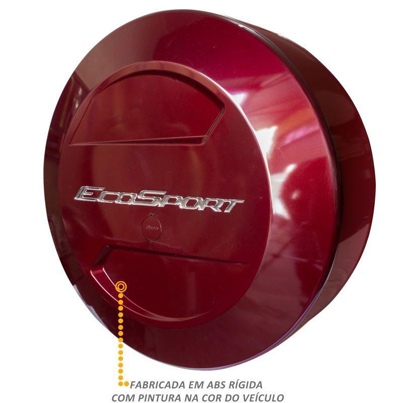 Capa de Estepe Ford Ecosport 2013 a 2017 Vermelho Merlot Bepo