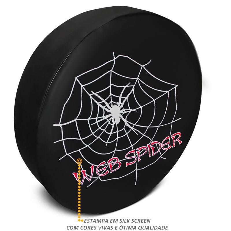 Capa De Estepe Troller Estampa Web Spider PVC